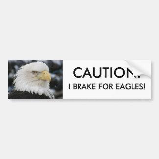 Foto do retrato da águia americana adesivo para carro