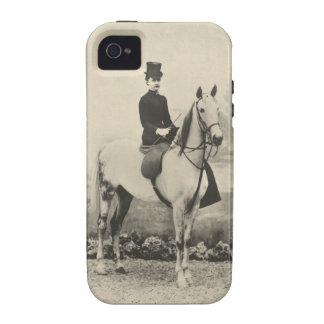 Foto do sepia do cavaleiro do Sidesaddle Capa Para iPhone 4/4S