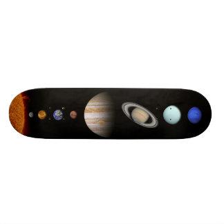 Foto do sistema solar shape de skate 19,7cm