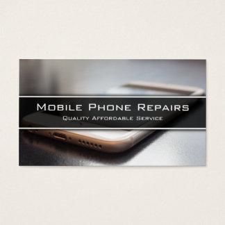 Foto do telefone esperto na mesa - cartão de