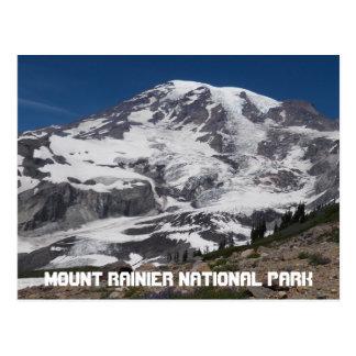 Foto do viagem da geleira do Monte Rainier Cartão Postal