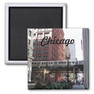 Foto do viagem de Chicago Ímã Quadrado