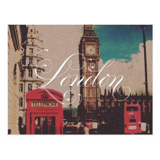 Foto do vintage do marco de Londres Cartões Postais