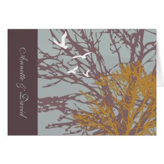 Foto dobrada amor Notecard do outono Cartões