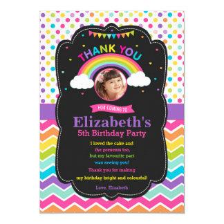 Foto dos cartões de agradecimentos da festa de