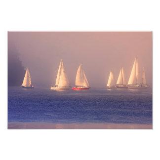 Foto dos veleiros do por do sol