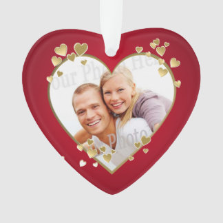 Foto dourada do coração do aniversário