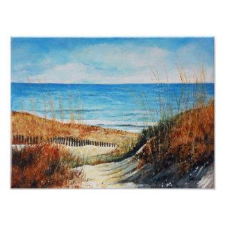 Foto Dunas e oceano de areia que pintam o impressão da