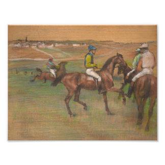 Foto Edgar Degas - cavalos de raça