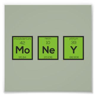 Foto Elemento químico Z3z08 engraçado do dinheiro