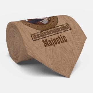Foto em ferradura memorável da madeira do celeiro gravata