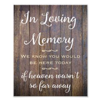 Foto Em sinal Loving da memória, decoração Wedding,