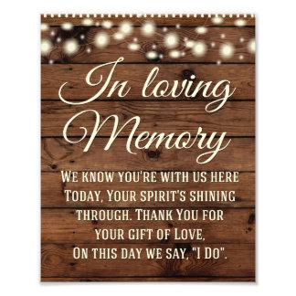 Foto Em sinal Loving da memória, sinal Wedding,