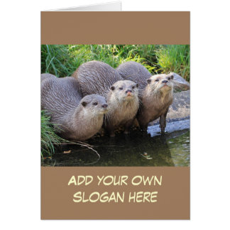 Foto engraçada da lontra para personalizar-se cartão comemorativo