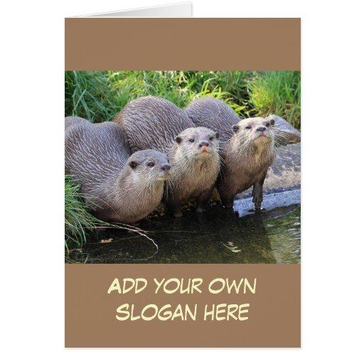 Foto engraçada da lontra para personalizar-se cartões