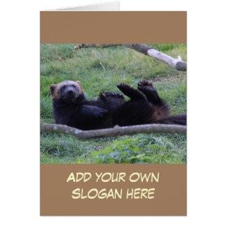 Foto engraçada de Wolverine para personalizar-se Cartão Comemorativo
