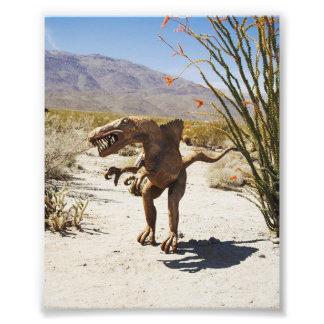 Foto Estátua do dinossauro no deserto