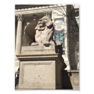 Foto Estátua do leão da biblioteca pública da Nova