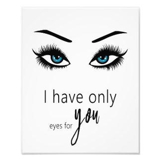 Foto Eu tenho somente o olho para você