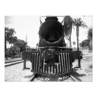 Foto expressa do vintage da bala de canhão B&W do Impressão De Foto