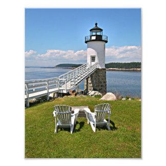Foto Farol do ponto de Robinson, Au Haut da ilha, Maine