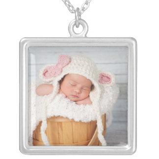 Foto feita sob encomenda personalizada colar banhado a prata