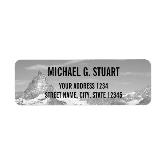 Foto feita sob encomenda preto e branco etiqueta endereço de retorno