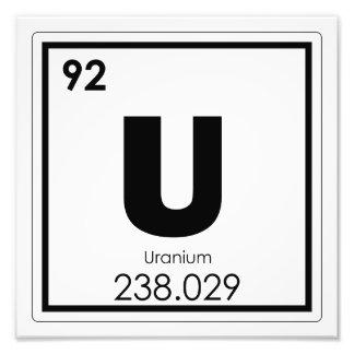 Foto Fórmula de urânio da química do símbolo do