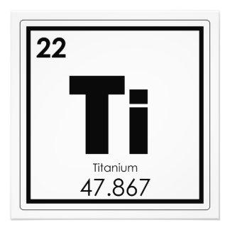 Foto Fórmula Titanium da química do símbolo do elemento