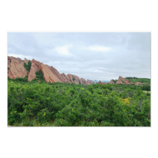 Foto Formulários da floresta e da rocha do vale de