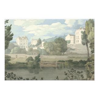 Foto Francis Towne - as casas aproximam Plymouth
