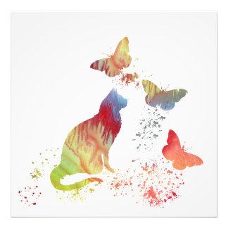 Foto Gato e borboletas