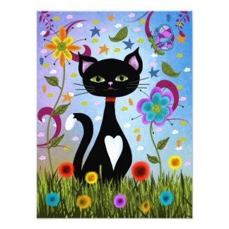 Foto Gato em uma arte abstracta do jardim