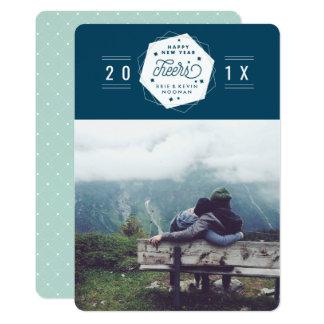 Foto geométrica do ano 2017 novo do elogio | convite 12.7 x 17.78cm