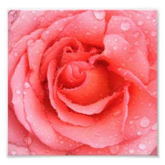 Foto Gotas cor-de-rosa românticas da água cor-de-rosa