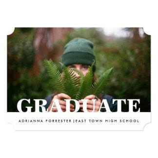 Foto graduada ocasional simples convite 12.7 x 17.78cm