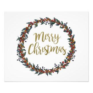 Foto Grinalda da aguarela - Feliz Natal - ramos