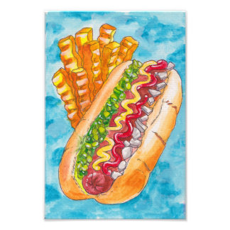 Foto Hotdog e fritadas