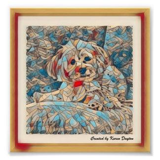 """Foto Imagem de mosaico criativa de um Morkie """"cobre """""""