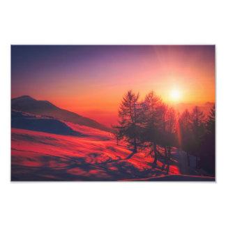 Foto imagem do nascer do sol de Italia