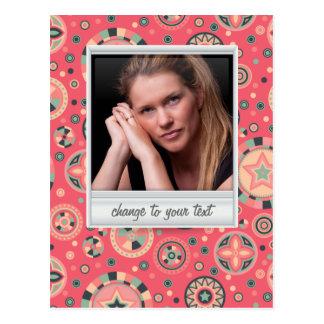 Foto imediata - photoframe com teste padrão cartão postal