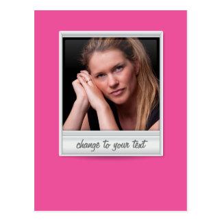 foto imediata - photoframe - no rosa quente cartão postal