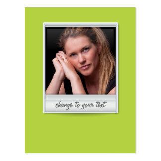 foto imediata - photoframe - no verde limão cartão postal
