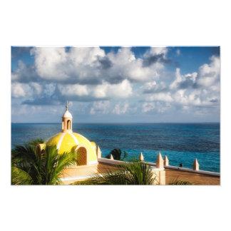 Foto Impressão - abóbada amarela de Cancun após o