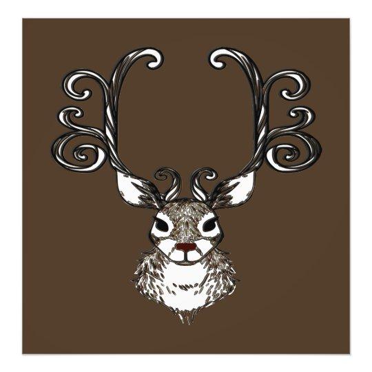 Foto Impressão bonito das canvas do marrom dos cervos