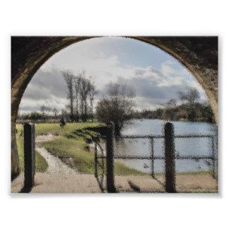 Foto Impressão da arte da paisagem do rio