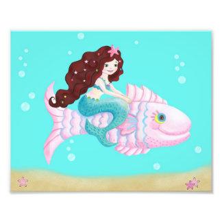 Foto Impressão da arte da sereia para miúdos