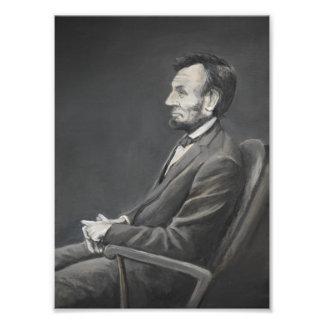 Foto Impressão da arte do retrato de Abraham Lincoln