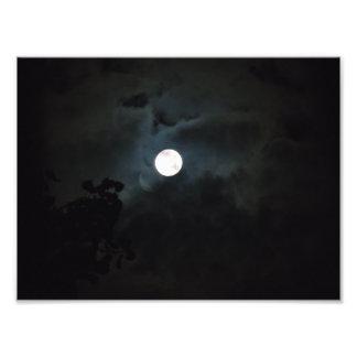 Foto Impressão da Lua cheia