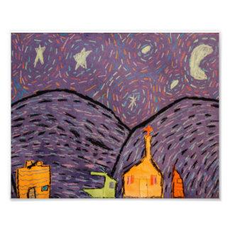 Foto Impressão da noite estrelado 8x10